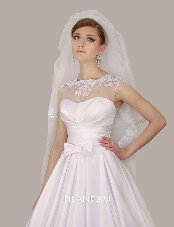 Кружевной верх свадебного платья А-силуэт Ailin