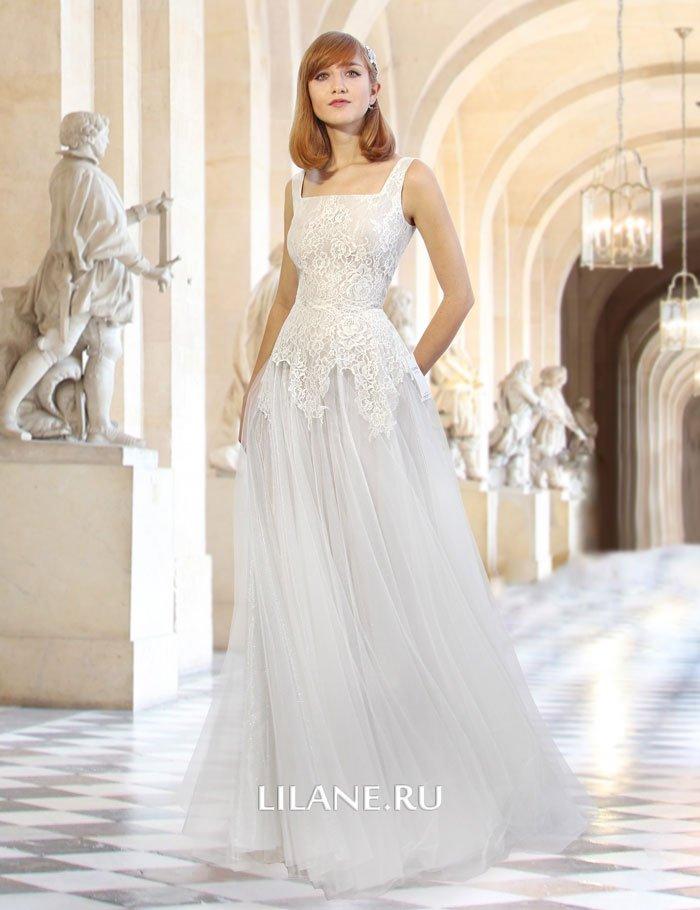 Романтичное свадебное платье А-силуэт Darsi