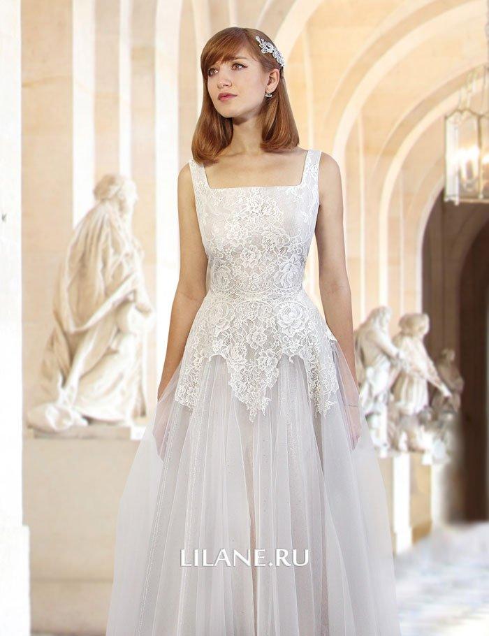 Кружевной корсет свадебного платья А-силуэт Darsi