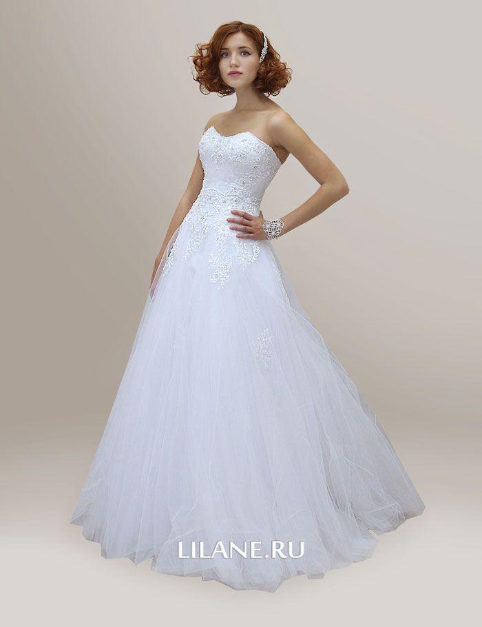 Расклешённое белое свадебное платье А-силуэт Edit