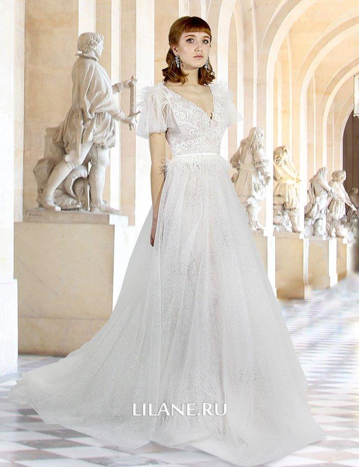 Волшебное современное свадебное платье А-силуэт Esmeralda