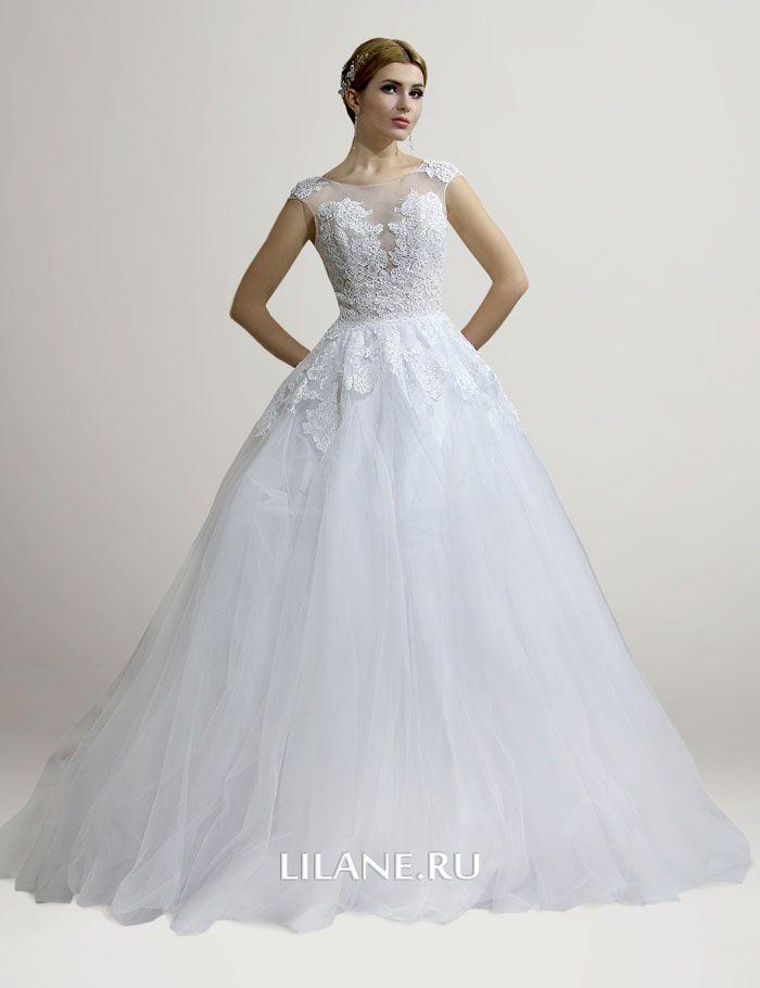 Белое свадебное платье А-силуэт Fabian