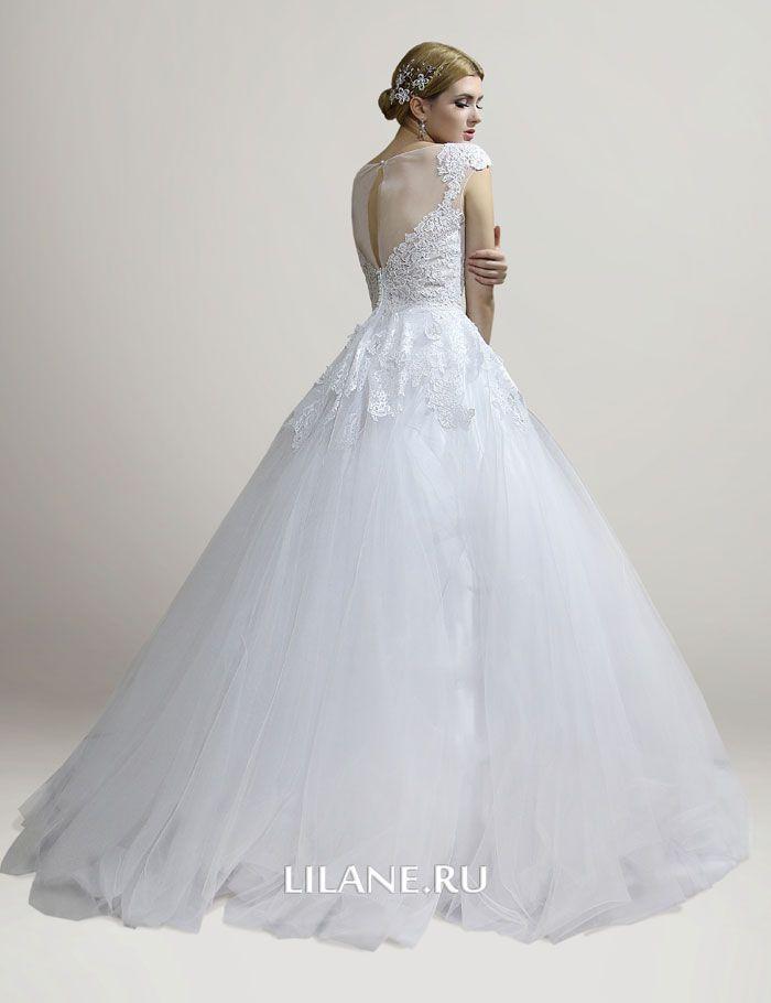 Кружево свадебного платья А-силуэт Fabian
