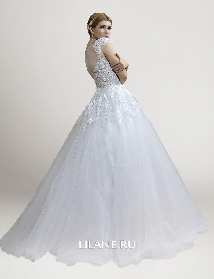 Спинка свадебного платья А-силуэт Fabian