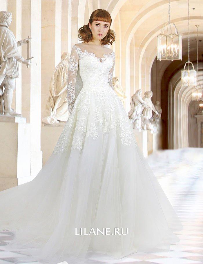 Кружевное свадебное платье А-силуэт Greta