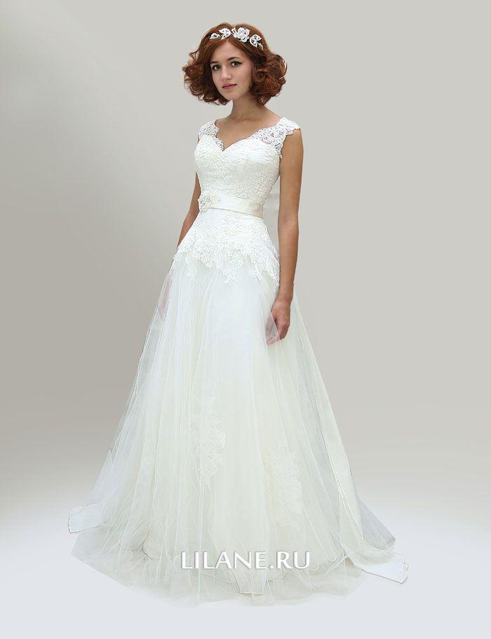 Лёгкая фатиновая юбка свадебного платья А-силуэт Inga