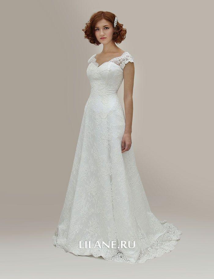 Кружево свадебного платья А-силуэт Karla