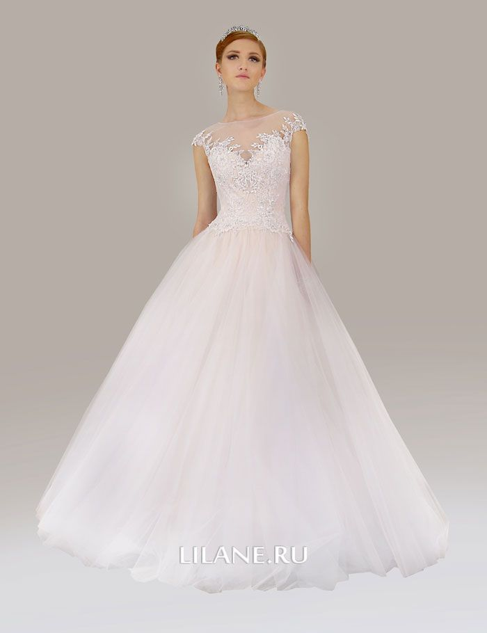 Белое свадебное платье А-силуэт Lusia