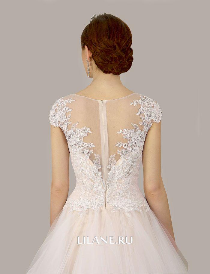 Кружевная спинка свадебного платья А-силуэт Lusia