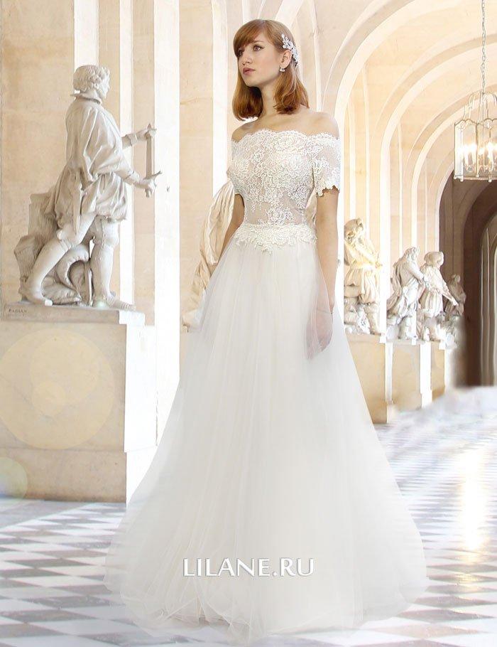 Воздушное свадебное платье А-силуэт Maiia