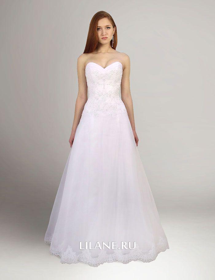 Белое свадебное платье А-силуэт Natali