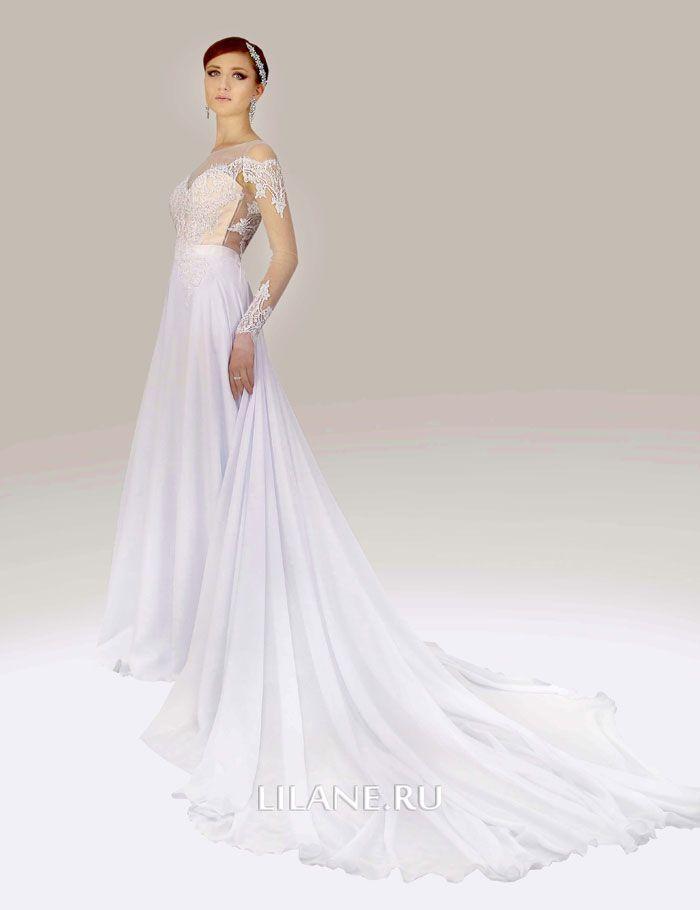 Белое свадебное платье А-силуэт Olivi с рукавами
