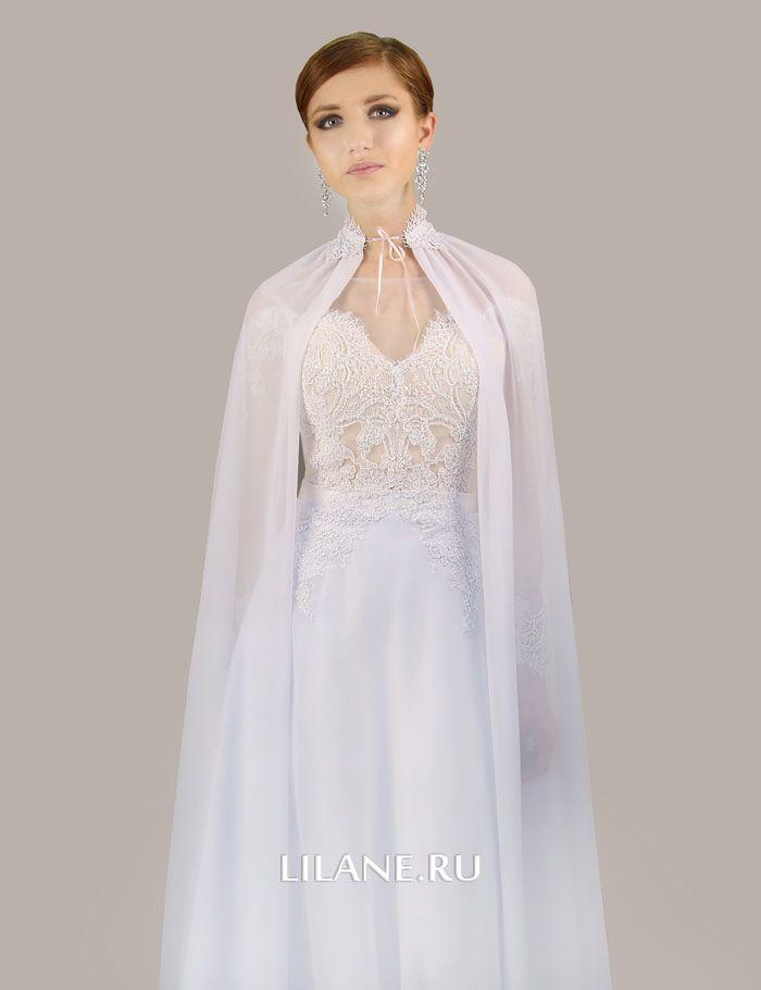 Отстёгивающийся шлейф платья А-силуэт Olivi