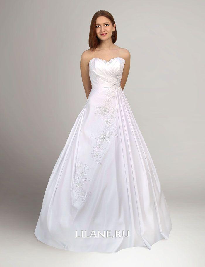 Белое свадебное платье А-силуэт Penelopa со шлейфом