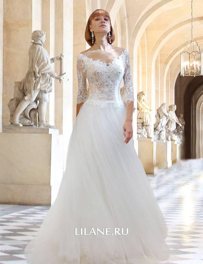 Кружевная спинка свадебного платья А-силуэт Rachel
