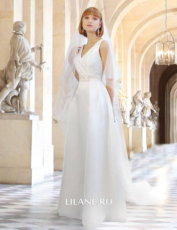 Атласное свадебное платье А-силуэт Rosemary