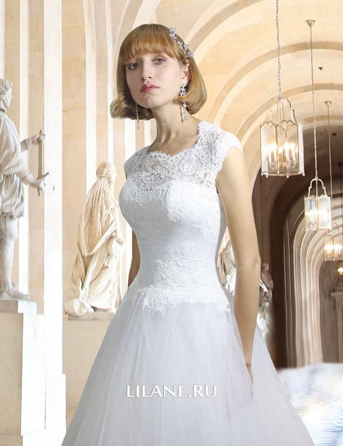 Кружевной верх свадебного платья А-силуэт Samantha