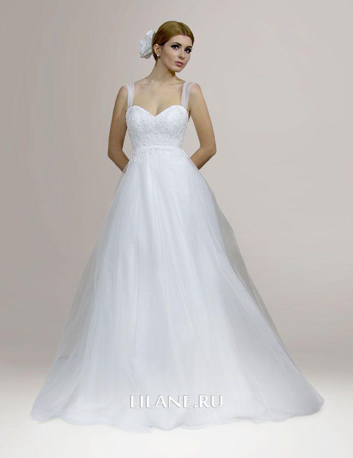 Белое свадебное платье А-силуэт Zlata