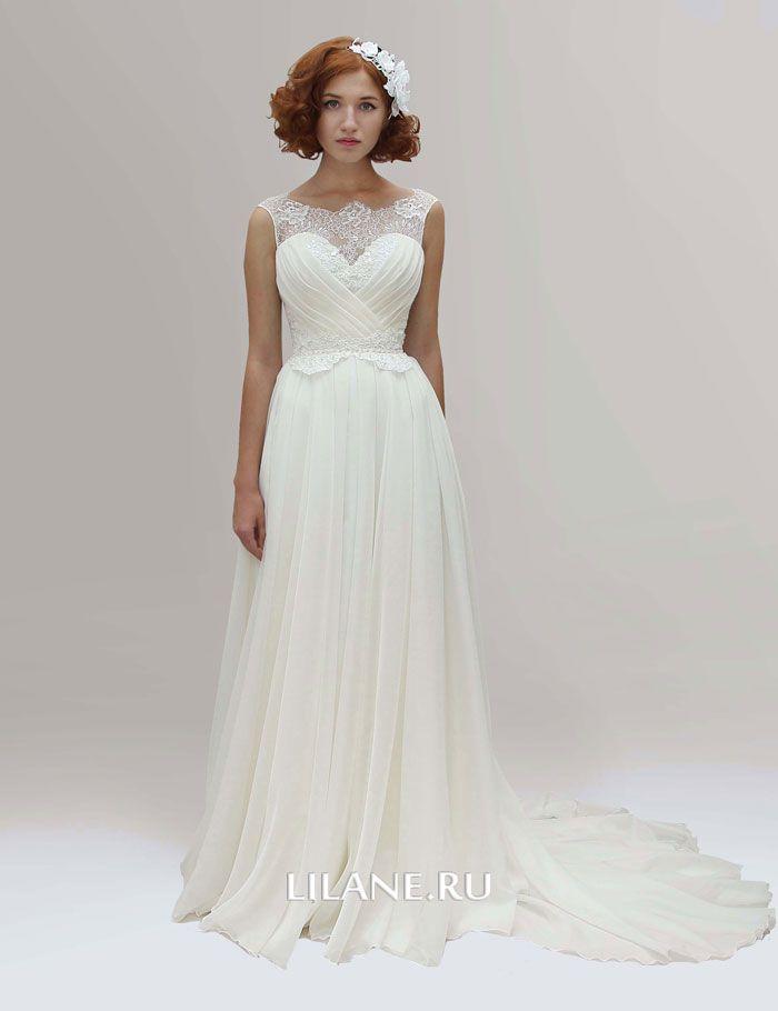 Греческое свадебное платье Alina цвета айвори