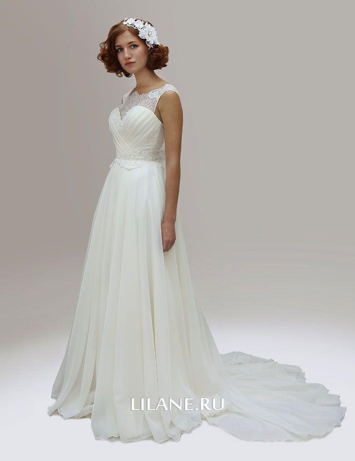 Шлейф греческого свадебного платья Alina