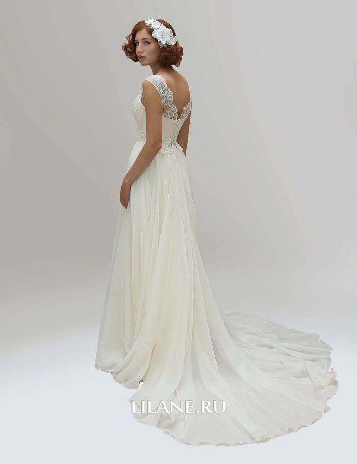 Спинка греческого свадебного платья Alina