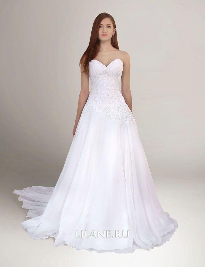 Драпированный корсет греческого свадебного платья Elian