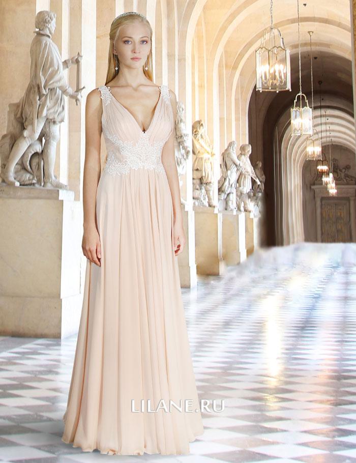 Греческое свадебное платье Jennifer цвета айвори