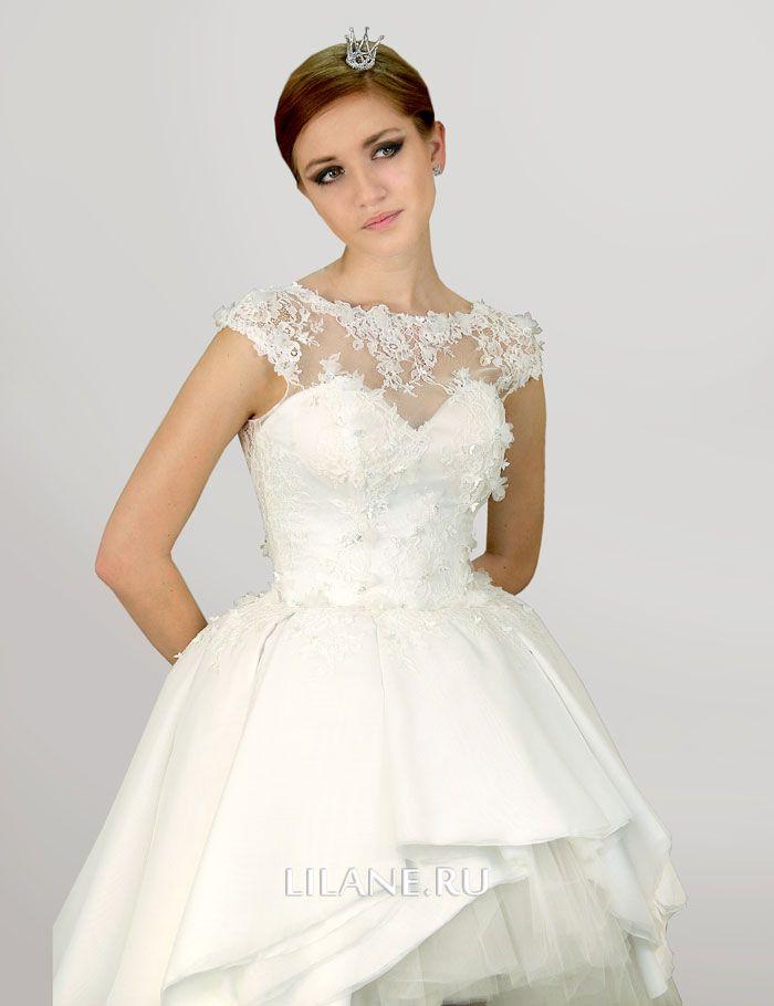 Шлейф короткого свадебного платья Kira