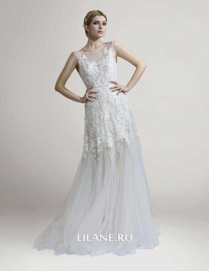 Кружевное свадебное платье Adelia без корсета