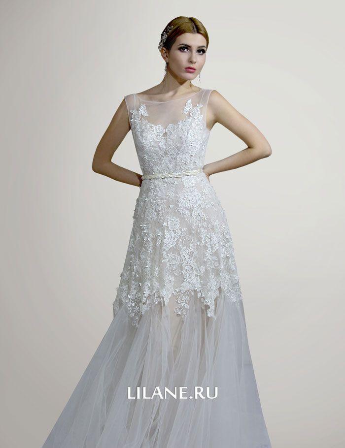 Кружево свадебного платья Adelia