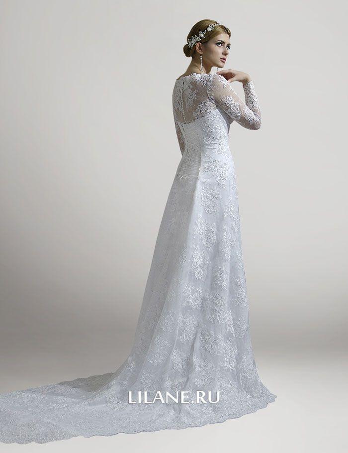 Шлейф короткого свадебного платья Chloya