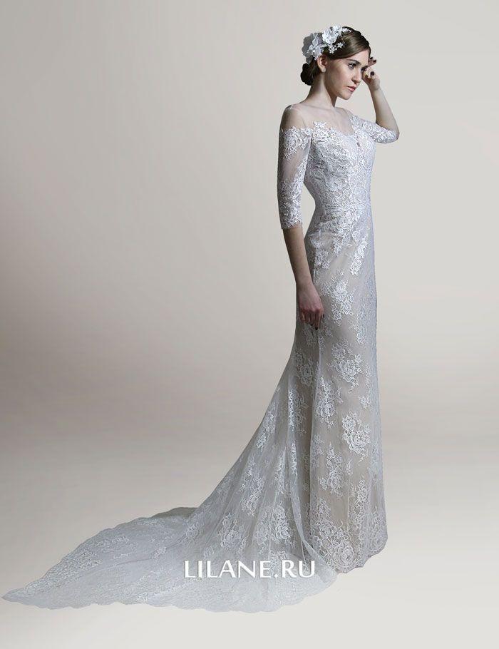 Рукава кружевного свадебного платья Elina