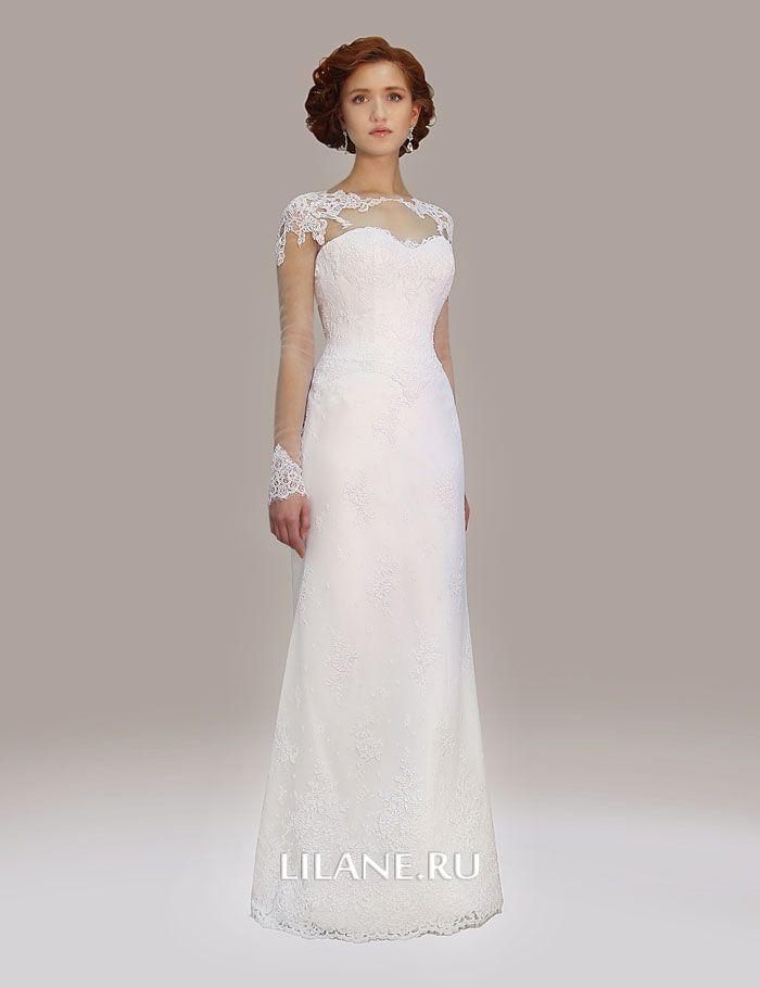 Кружевное свадебное платье Gloria без шлейфа