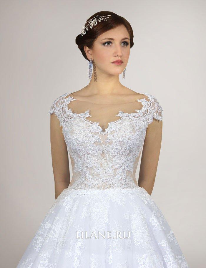 Кружевной декор свадебного платья Lilane