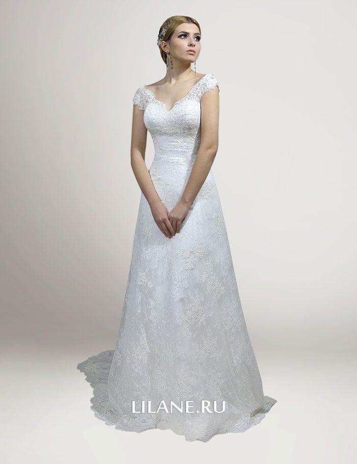 Свадебное платье Loren со шлейфом