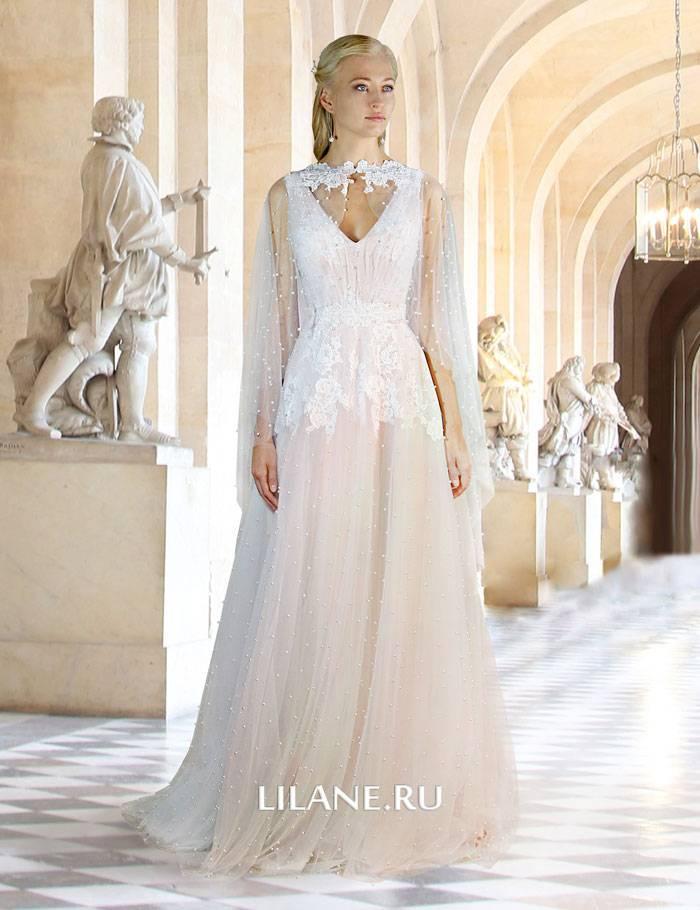 Кружевное свадебное платье Monique в греческом стиле