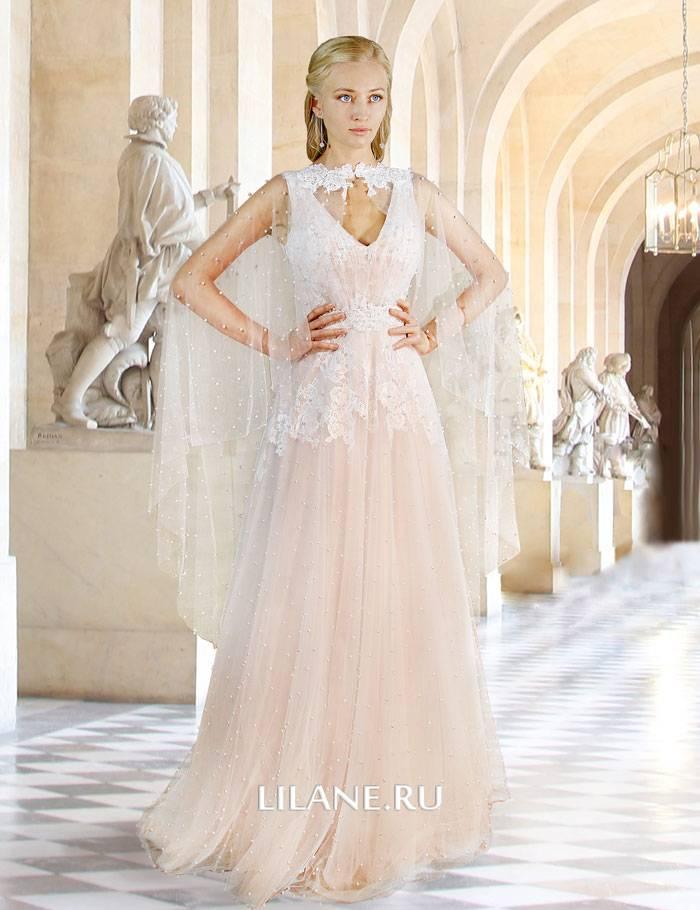 Накидка кружевного свадебного платья Monique