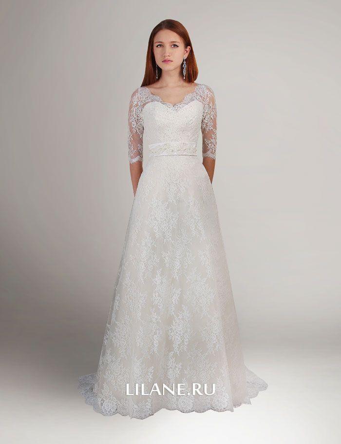 Кружево свадебного платья Nelin цвета айвори
