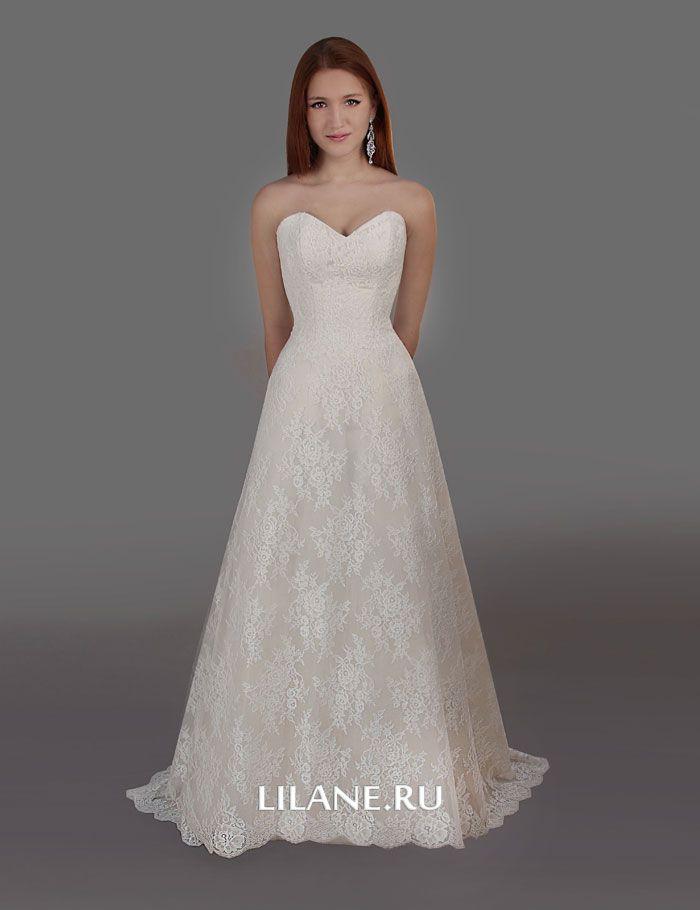 Кружевное свадебное платье Nelin без болеро