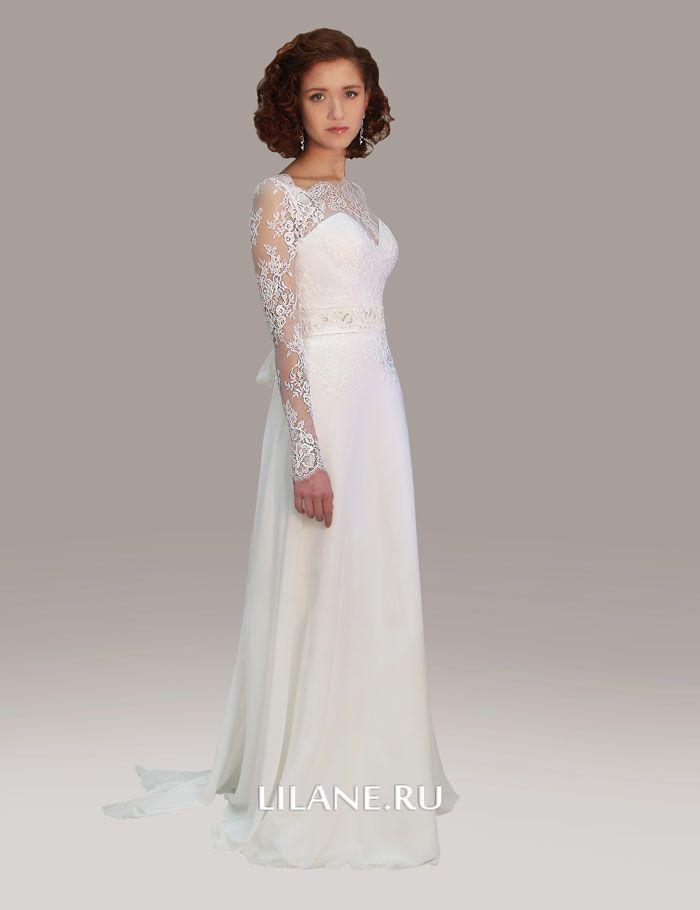 Кружевной рукав свадебного платья Selin