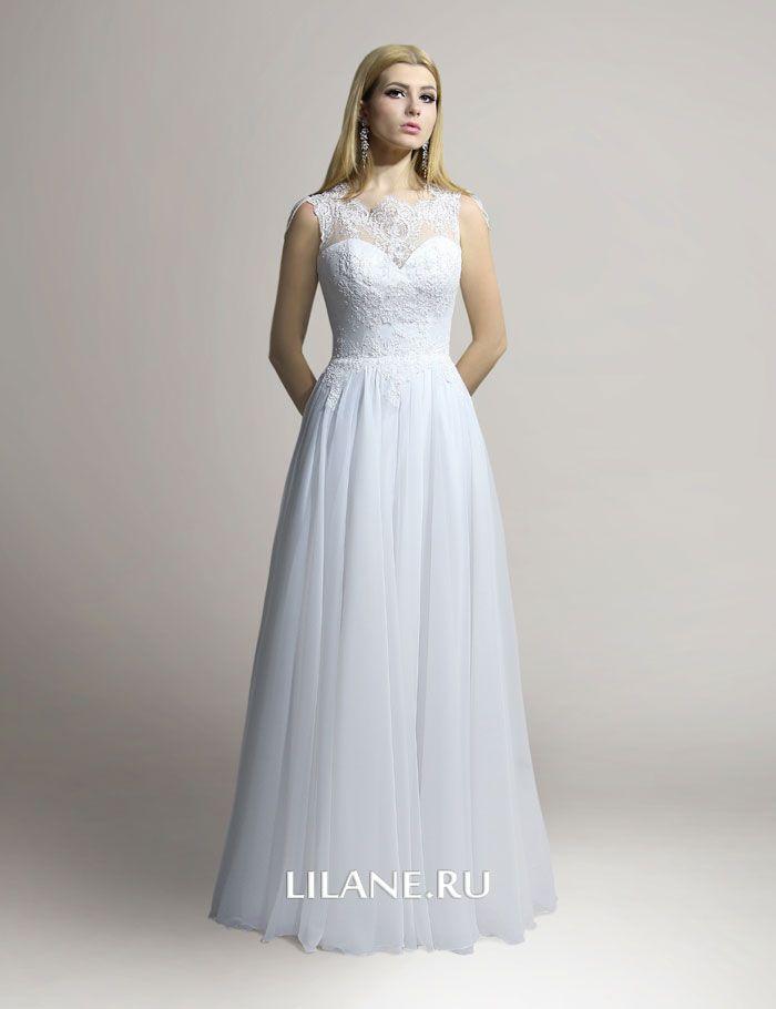 Лиф из кордового кружева свадебного платья Alis