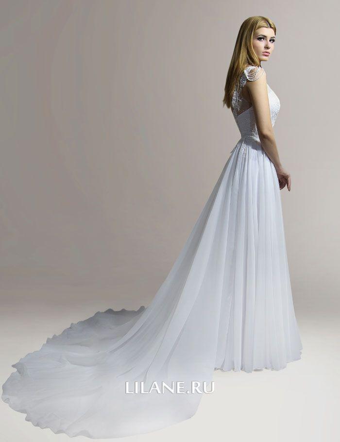 Шлейф прямого свадебного платья Alis