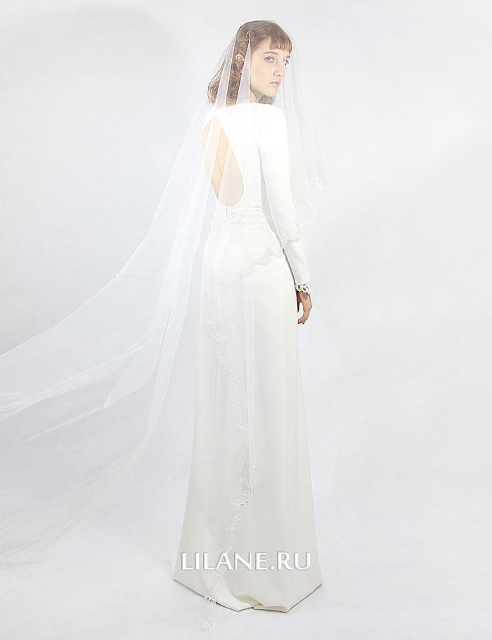 Открытая спина свадебного платья Alla