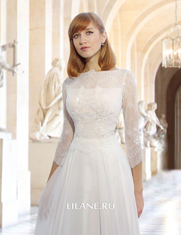 Кружевной верх прямог свадебного платья Anita