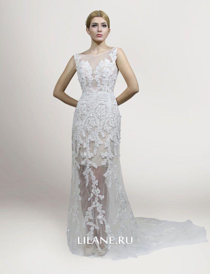 Кружево прямого свадебного платья Daniela