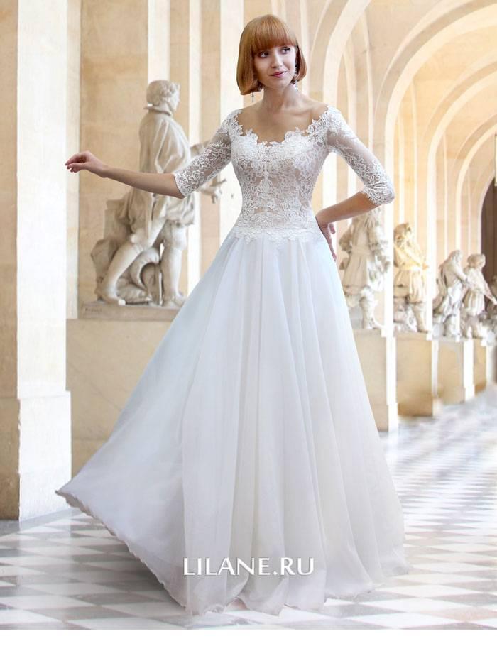 Струящееся прямое свадебное платье Flo