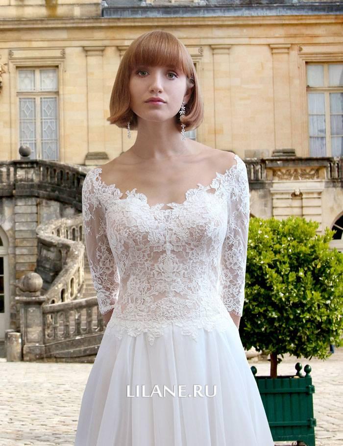 Кружевной корсет прямого свадебного платья Flo