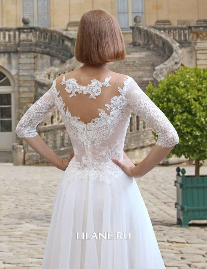 Спинка  прямого свадебного платья Flo