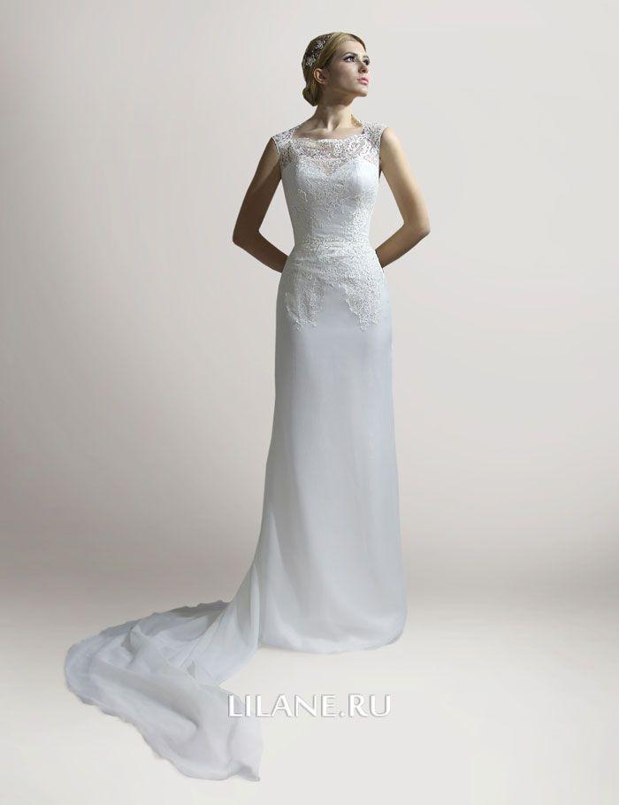Шлейф прямого свадебного платья Florens