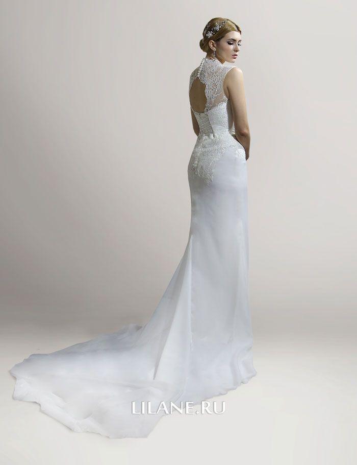 Спинка прямого свадебного платья Florens